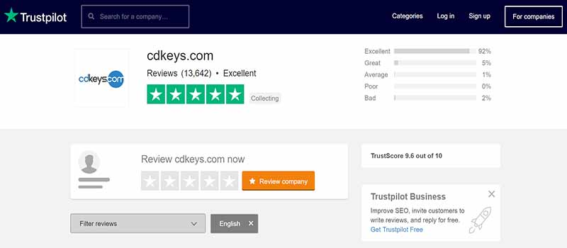 Cdkeys Reviews