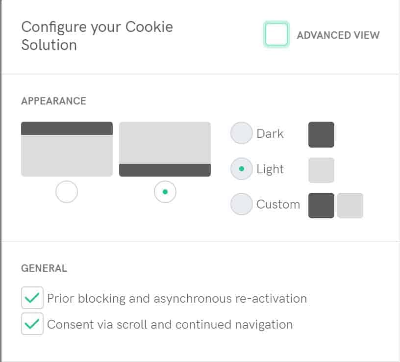 iubenda cookie solutions customisation