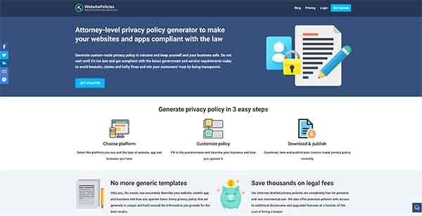 WebsitePolicies.Com Privacy Policy Generator