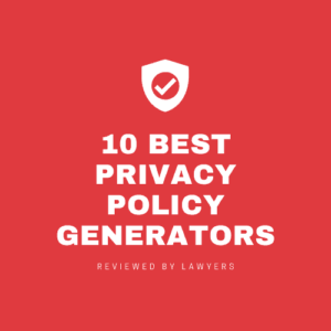 privacy policy page with shield icon