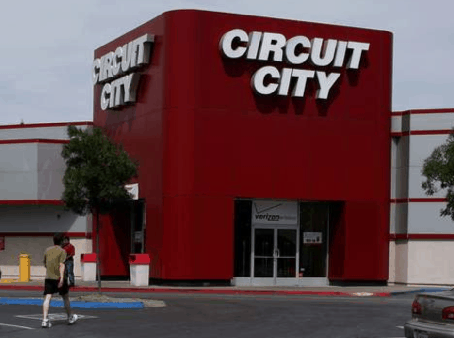 circuit city and parking lot