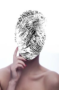A fingerprint on the face