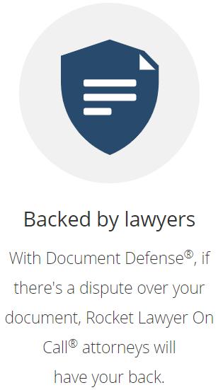 RocketLawyer Document Defense