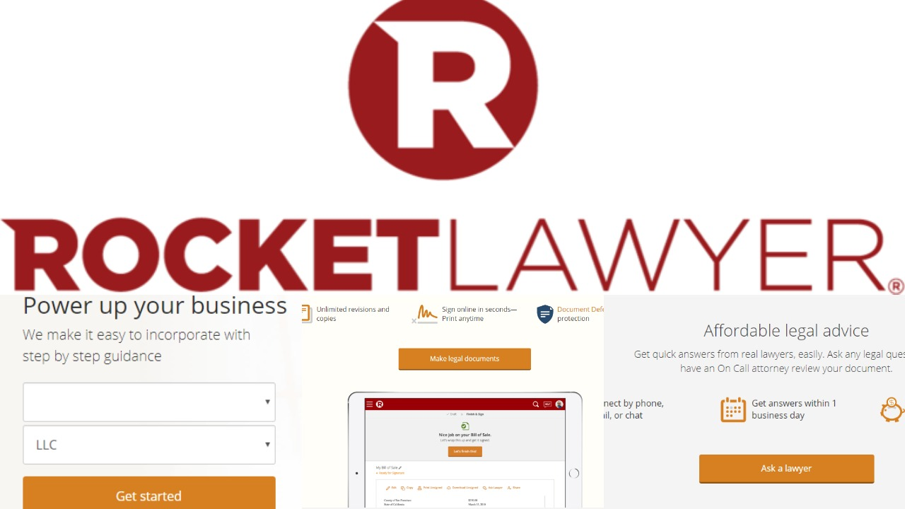 RocketLawyer capture