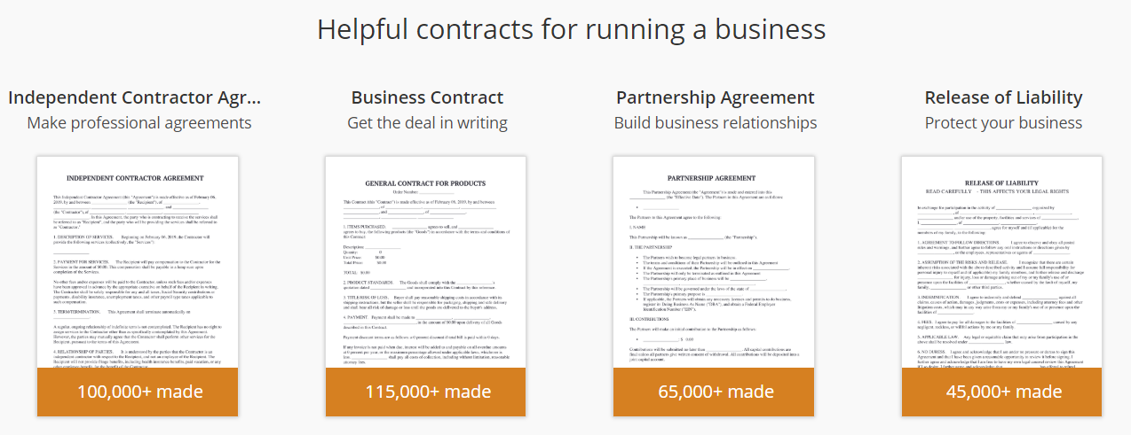 Helpful contracts for running a business