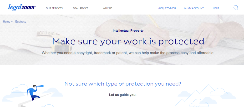 LegalZoom intellectual property service