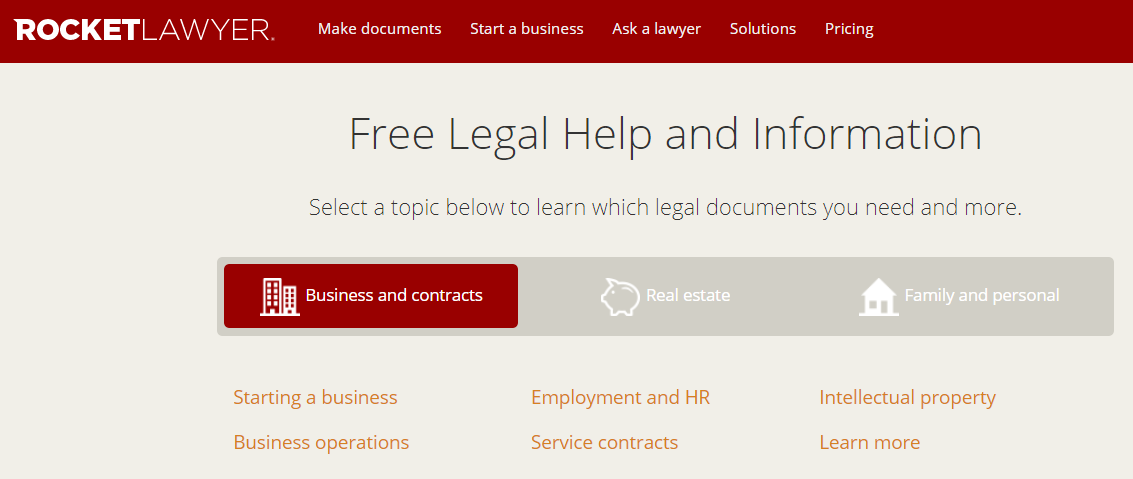Legal help and information